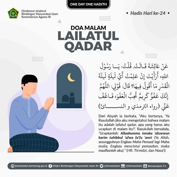 Hadis tentang Lailatul Qadar.